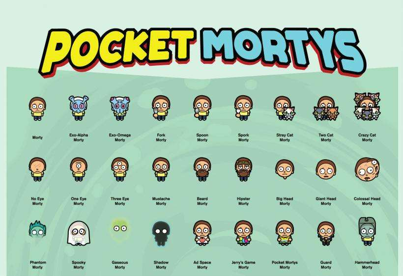 Pocket Mortys Morty list
