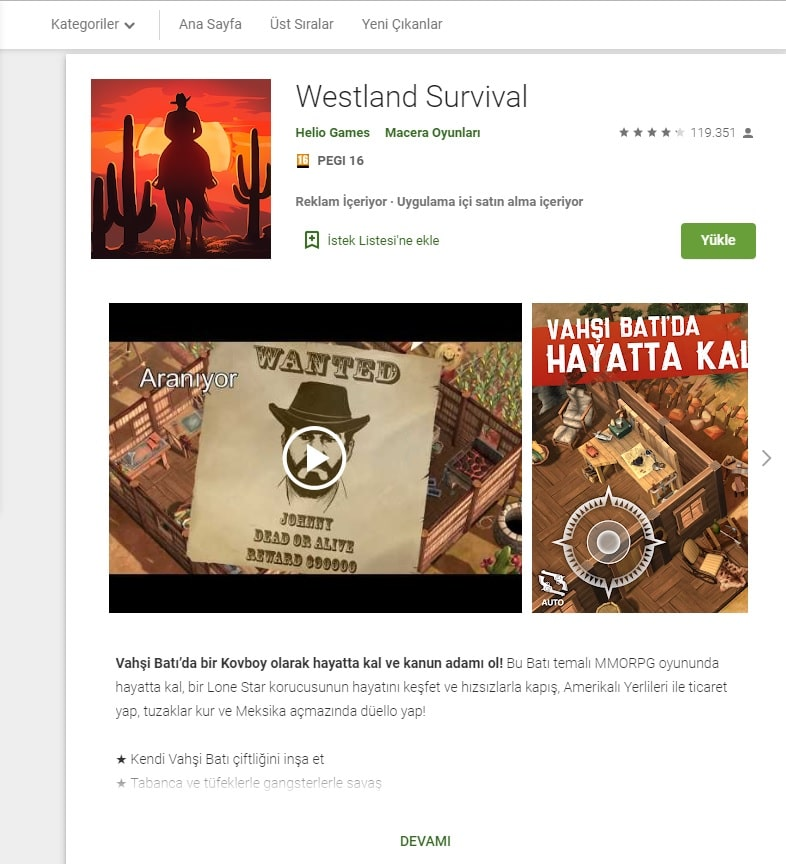 westland survival google play store indir