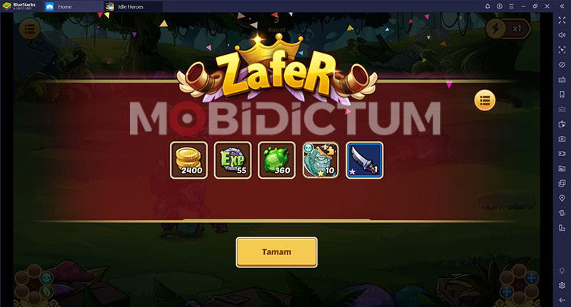 idle heroes zafer