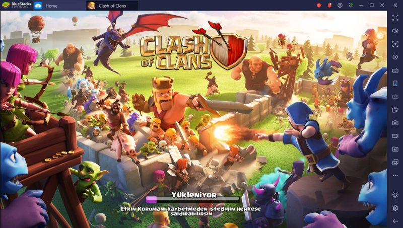 clash of clans bluestacks