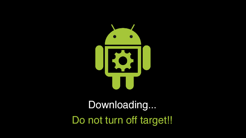 Downloading do not turn off target