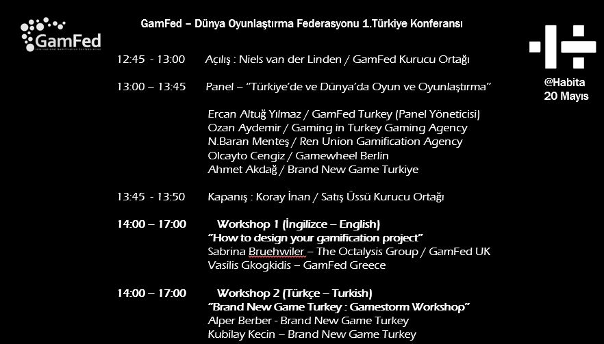 Gamefed Konferans Program