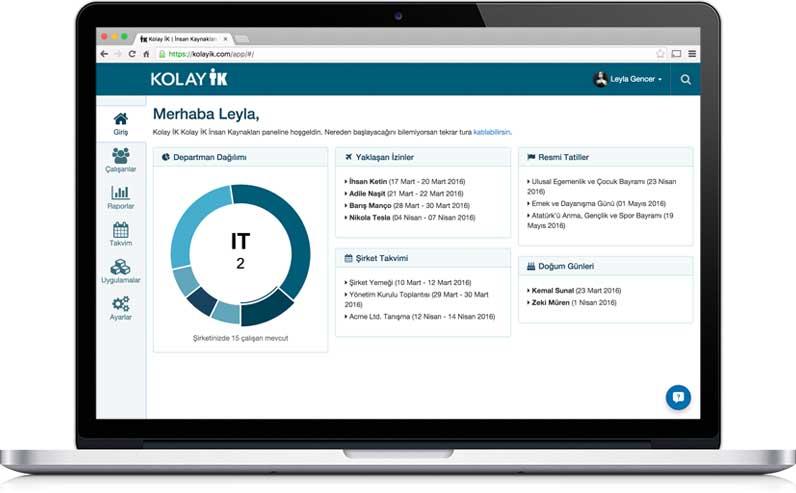 Kolay İK,Online Personel Yönetimi