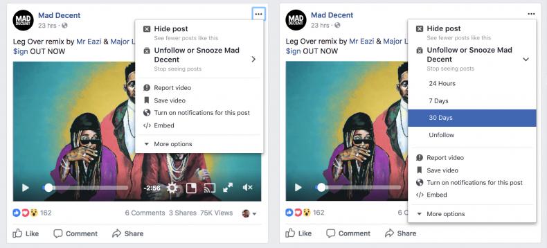 Facebook Erteleme Özelliği