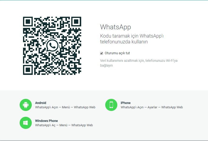 web whatsapp giriş
