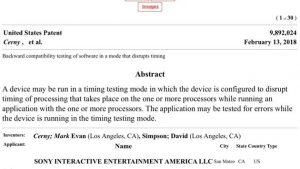 Sony Patent Açıklaması