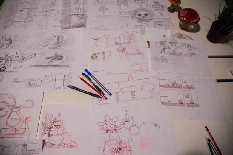 Oddmar Level Tasarımı Sırasında Hazırlanan Çizimler