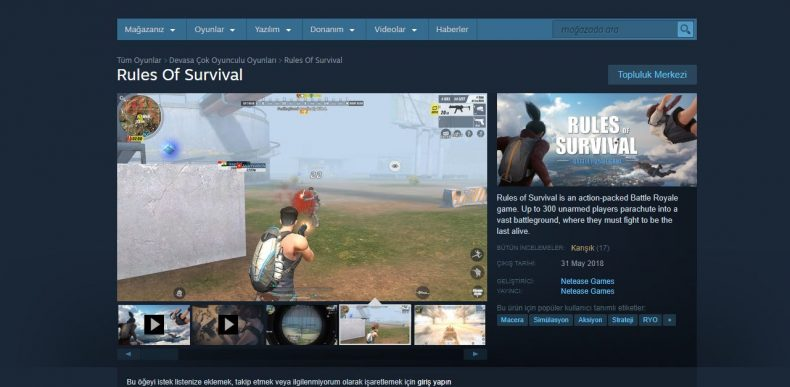 Rules of Survival Steam