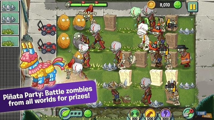 Klasik Mobil Oyun Tavsiyesi - Plants vs Zombies 2