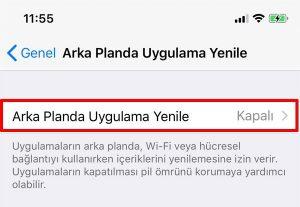 iPhone Arka Plan Uygulamaları