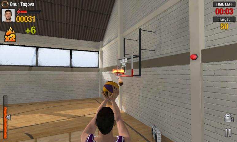 Real Basketball oyunu iç görünüm