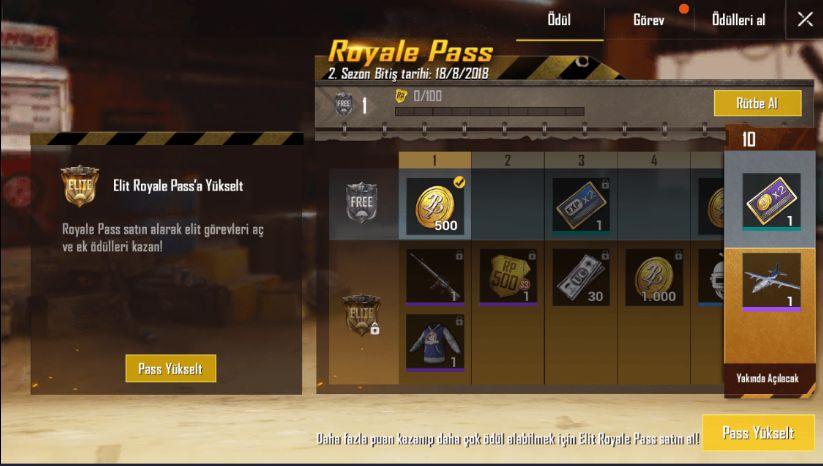 pubg mobile royale pass güncellemesi