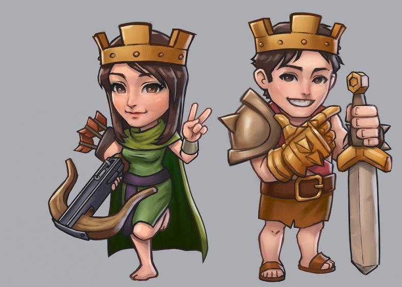Clash of Clans prens ve prenses fan çalışması!