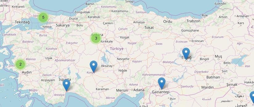 GGJ Türkiye lokasyonları