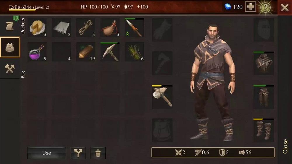 Stormfall: Saga of Survival Envanter Ekranı