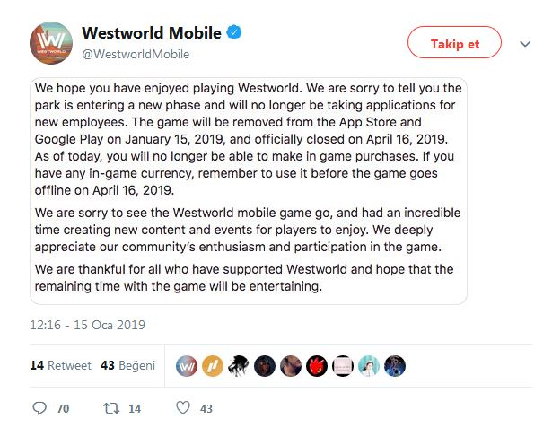 Westworld Mobile Twitter