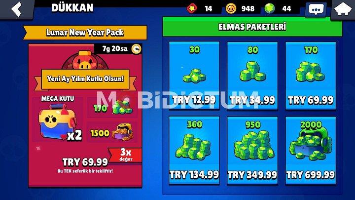 Brawl Star Elmas Fiyatları