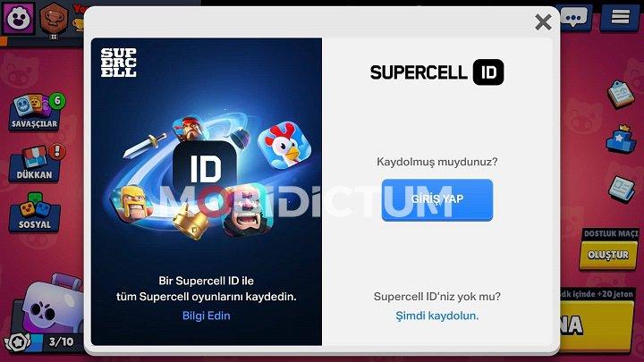 Brawl Stars Supercell ID Kayıt