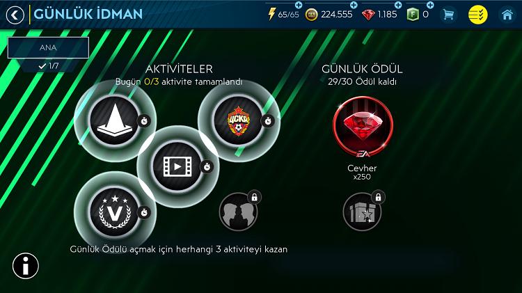 Fifa Mobile Etkinlikleri Günlük İdman