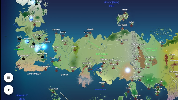 Map for Game of Thrones mobil uygulama