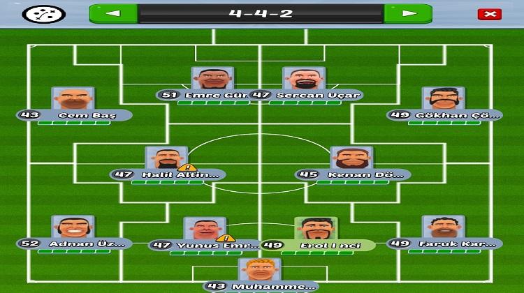 Yılmaz Vural menajerlik oyunu 9PM Football Managers takım
