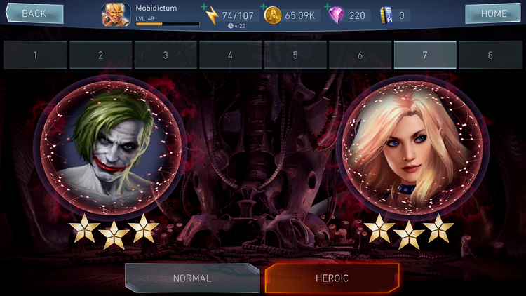 injustice 2 Mobile Dövüşleri