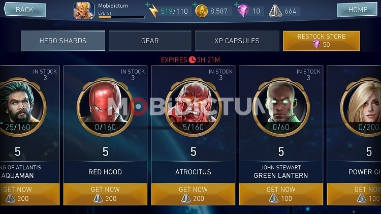 injustice 2 Mobile League Store
