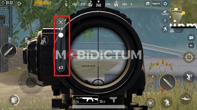 PUBG Mobile 6x Dürbün Ayalarları