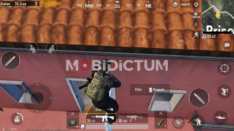 pubg mobile çatıya çıkmak kapıya çıkmak