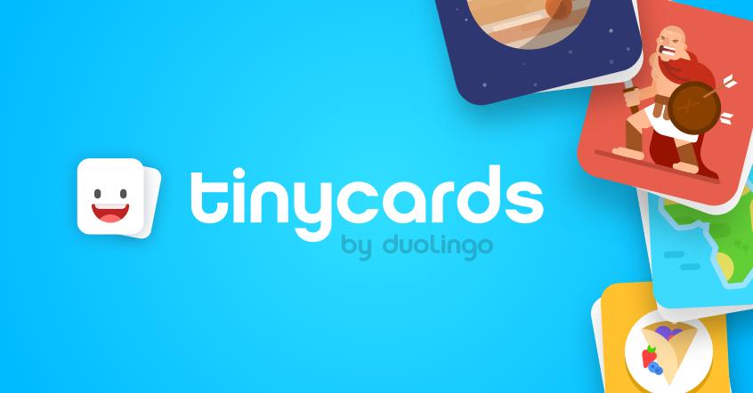 Tinycards - yabancı dil öğrenme uygulamaları